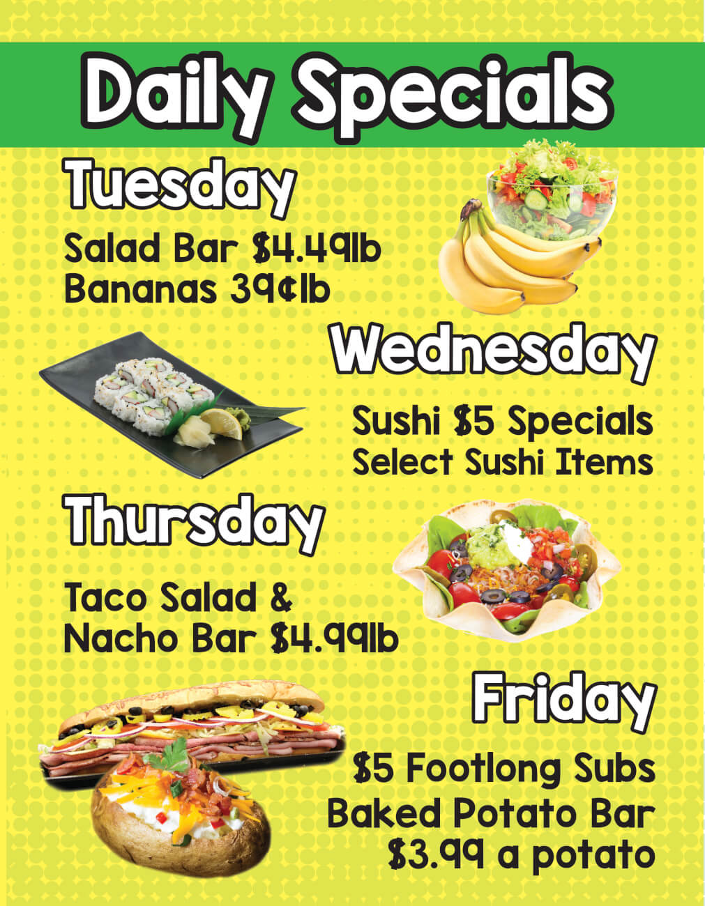 Ron's Supermarket | Daily Specials